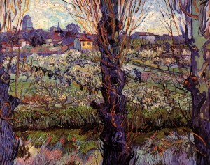Orchard-in-Blossom-with-View-of-Arles