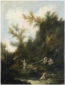 Пейзаж с монахами