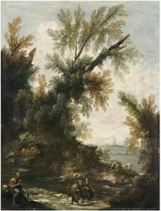 Пейзаж с паломниками