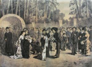 Гулянье 1 мая в Сокольниках.1882