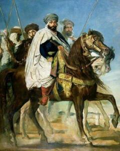 Али Бен Ахмет, халиф Константинополя, со свой свитой