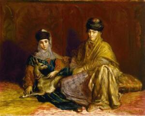 Константинопольские женщины с газелью