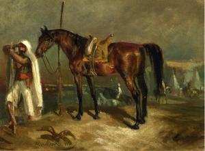 Араб с лошадью