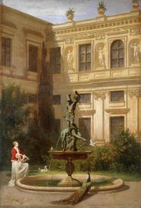 Дворик королевской резиденции в Мюнхене