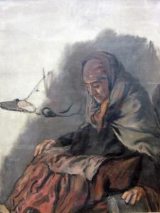 Старуха, продающая устрицы